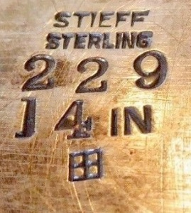 The Stieff Company Date Marks